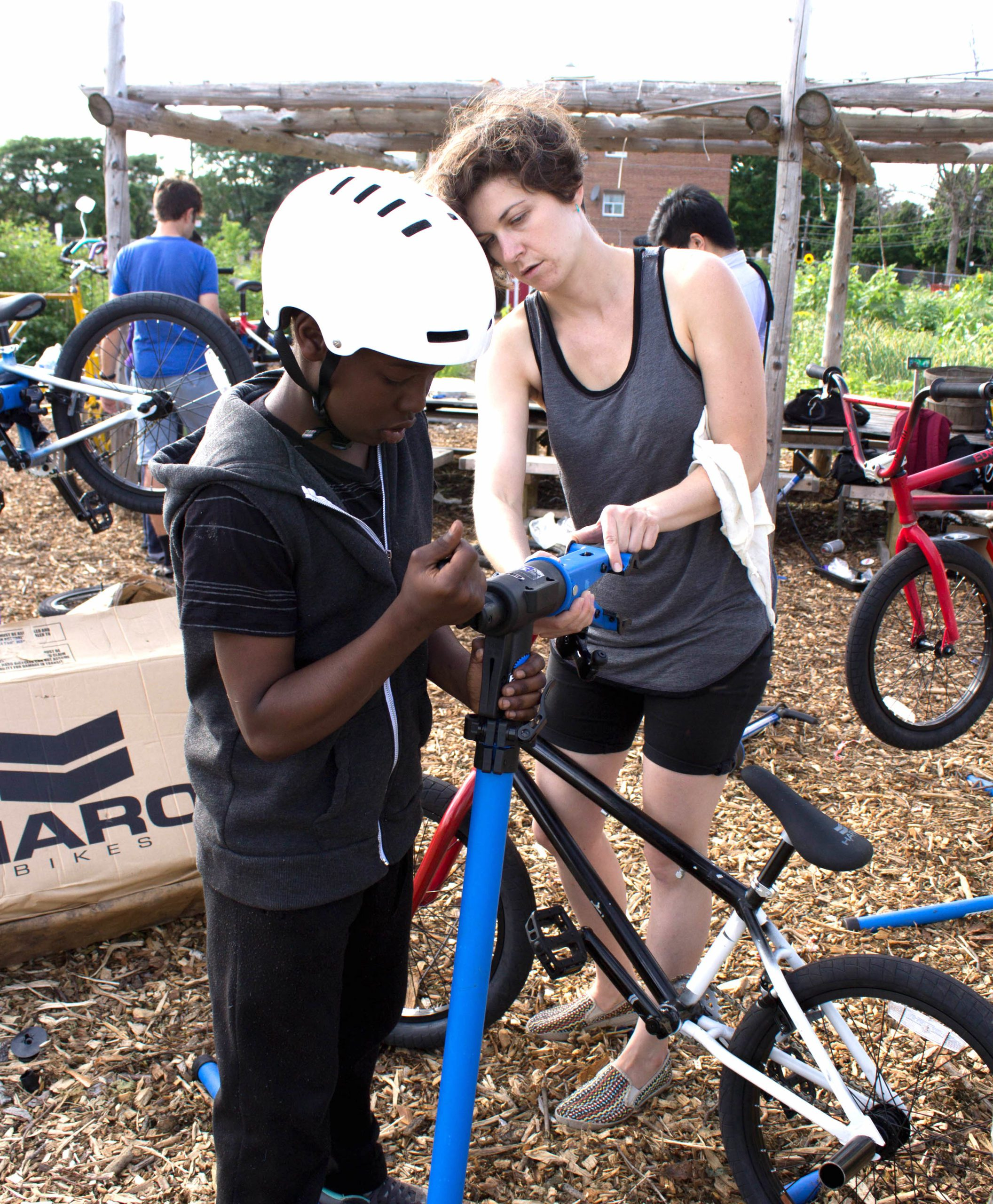 Art Starts Bicycle Built for You program Lawrence Heights 2014