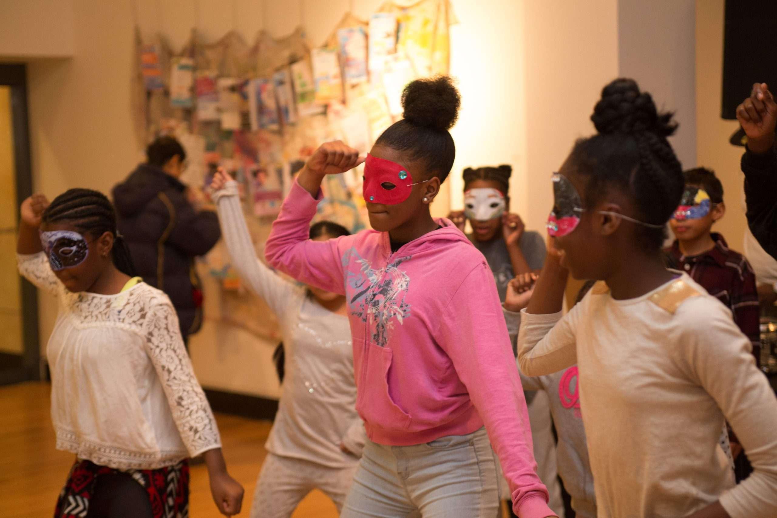 Girls dancing at Annual Showcase dec 2016