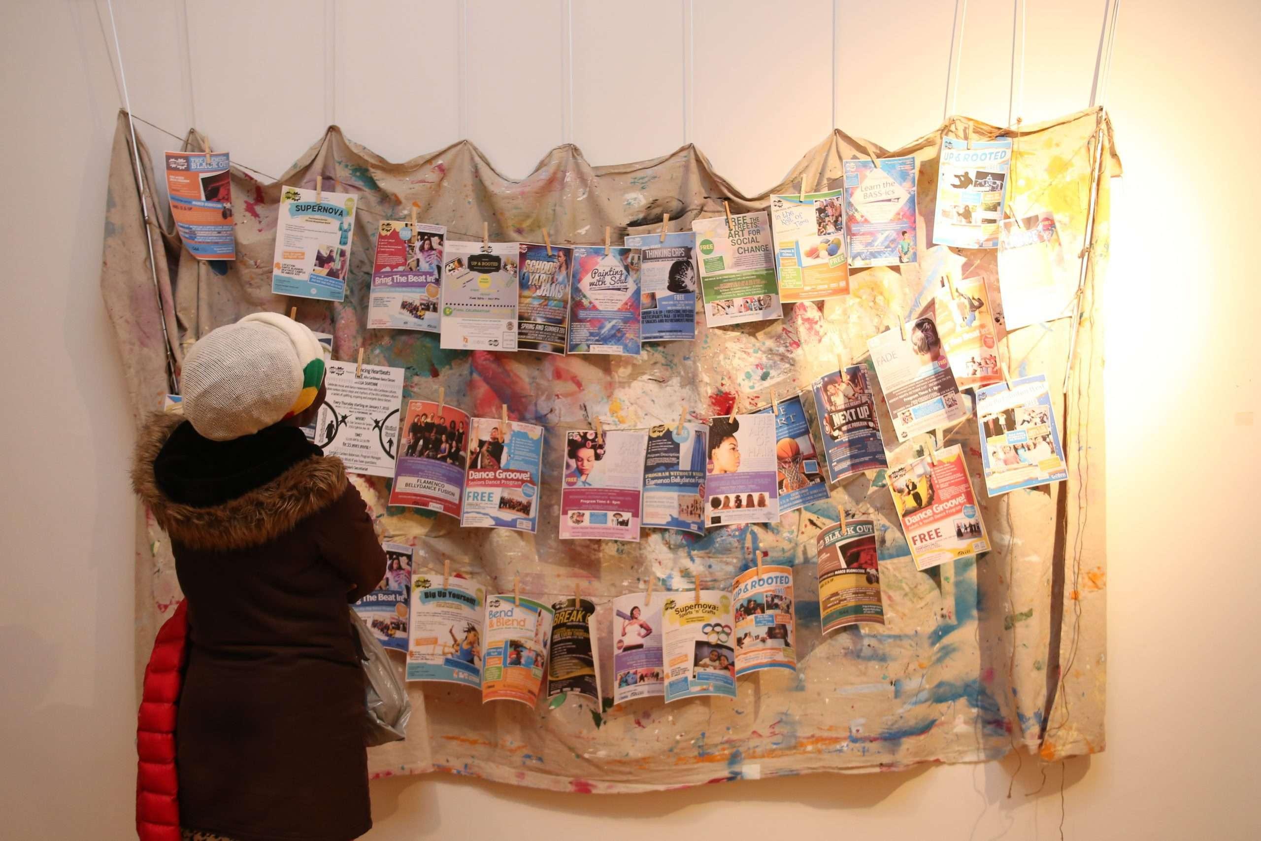 flyers on clothesline A Show