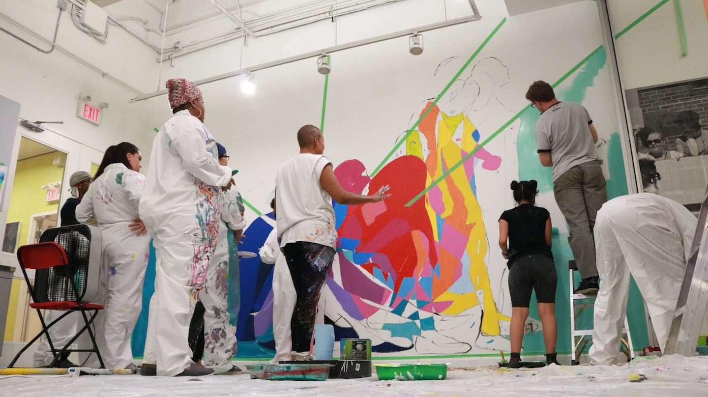 Art Starts Studio Mural painting Jacquie C