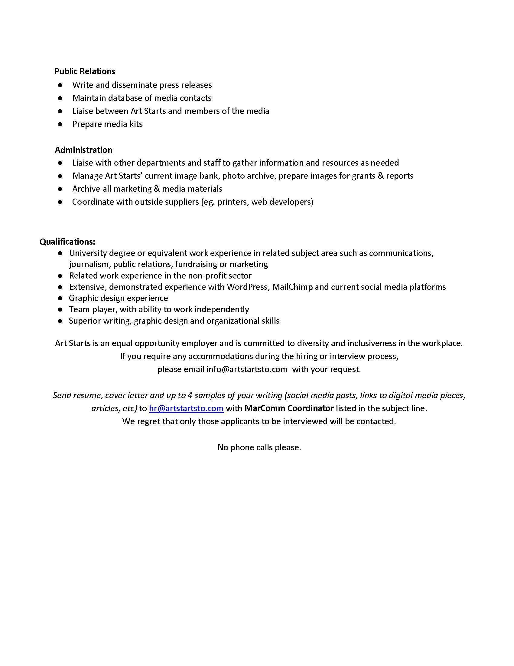 Art Starts MarComm Coordinator Job Posting 2018_Page_2 - Art Starts TO